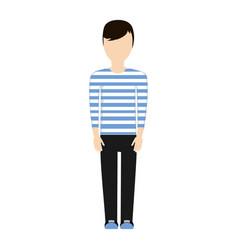 Character man faceless image vector