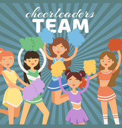 cheerleading team cheerleader vector image