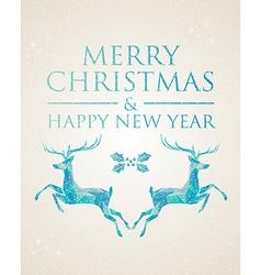 Christmas greeting card geometric deer vector
