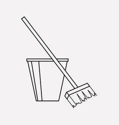 cleaning icon line element of vector image