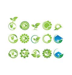 Collection environment logo vector