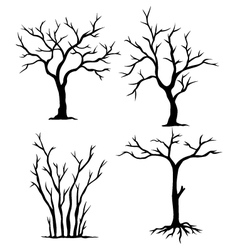 Collection of dead trees vector