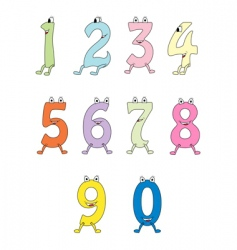 colourful cartoon numbers vector image vector image