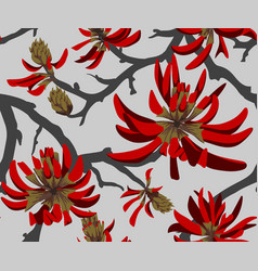 coral tree vector image