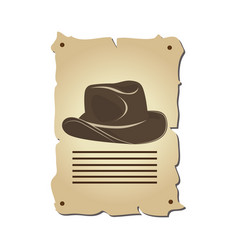 cowboy hat wild west icon vector image