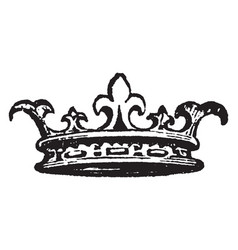 Diadem worn ancient kings as token of vector