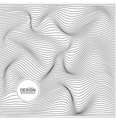 Distorted wave monochrome texture vector