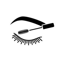 Eyelash mascara glyph icon vector