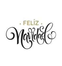 Feliz navidad hand lettering decoration text vector