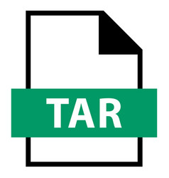 File name extension tar type vector