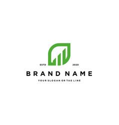 Financial leaf design logo concept vector