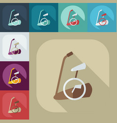 Flat modern design with shadow icon exercise bike vector