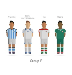 football teams group f - argentina bosnia and vector image