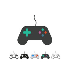 Gamepad controller icon filled flat sign vector