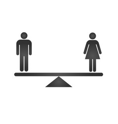 gender equality concept icon black gender icons vector image