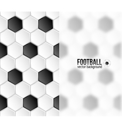 Geometric football hexagonal tiles background vector