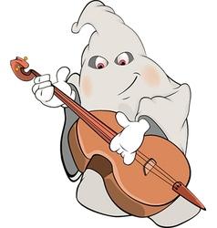 Ghost-musician cartoon vector