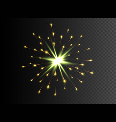 gold star with sparkles bengal fire vector image