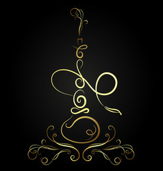 golden hookah abstract vector image vector image