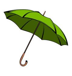 Green umbrella icon cartoon vector