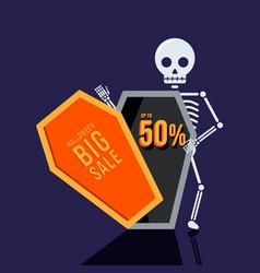 Happy halloween sale promotion banner special vector