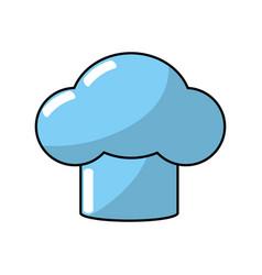 Hat chef kitchen utensil to cuisine vector