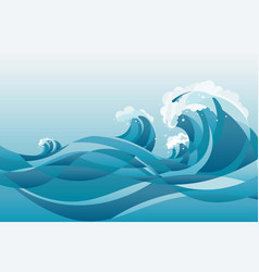 high tide water waves background vector image