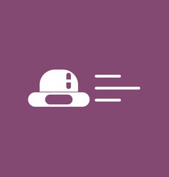 Icon flying saucer vector
