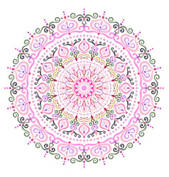 Intricate mandala flower design element vector