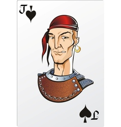 Jack of spade Deck romantic graphics cards vector image