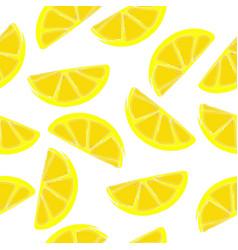 lemons seamless pattern slices of vector image