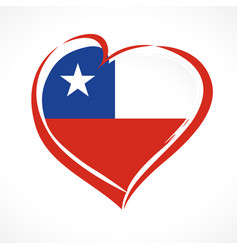 love chile emblem colored vector image