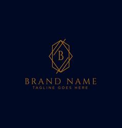 Luxury logotype premium letter b logo vector