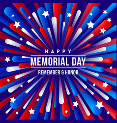 memorial day - greeting design vector image