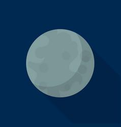 mercury planet icon flat style vector image