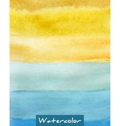 multicolor striped watercolor hand drawn vector image