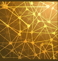 Neural network concept background template vector