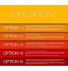 One two three four five - options background vector