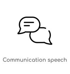 Outline communication speech bubbles icon vector