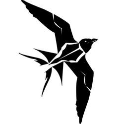p bird vector image