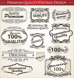 premium quality vintage design vector image