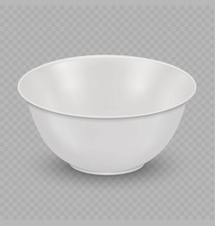 Realistic bowl isolated vector