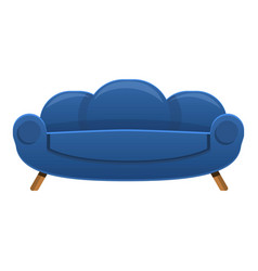 retro sofa icon cartoon style vector image