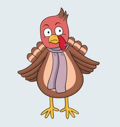 Sad turkey vector