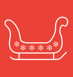 santa sleigh line icon new year and christmas vector image vector image