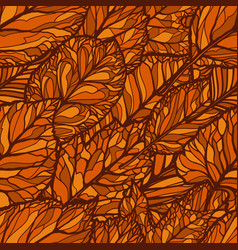 Seamless floral pattern leaves autumn backdrop vector