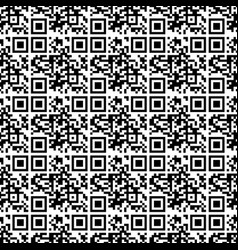 seamless pattern qr code vector image