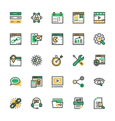 SEO and Marketing Colored Icons 2 vector image