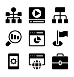 seo icons collection vector image