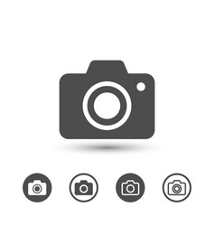 simple camera icons image vector image